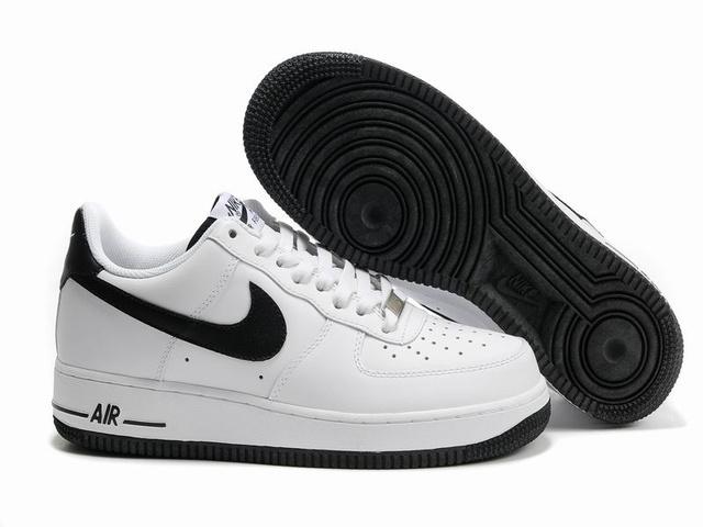 nike air force 1 homme basse noir blanc,Nike Air Force 1 Blanche ...